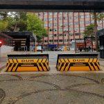 İzinsiz araç girişini teleskopik road blocker ile önleyin